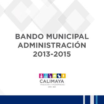 BANDO MUNICIPAL 2013-2015