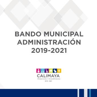 BANDO MUNICIPAL 2019-2021