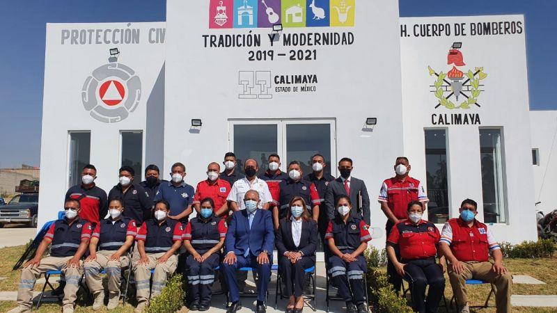 Inauguración de las nuevas oficinas de la Dirección de Protección Civil y Bomberos de Calimaya.