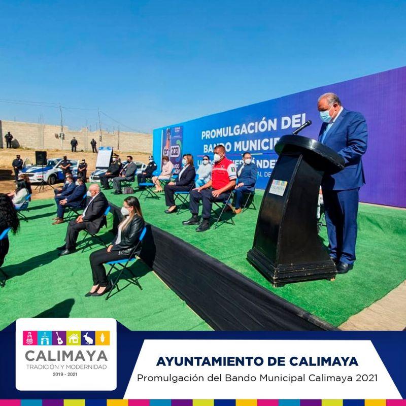 Promulgación del Bando Municipal de Calimaya 2021